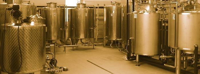 Impianto birrificio